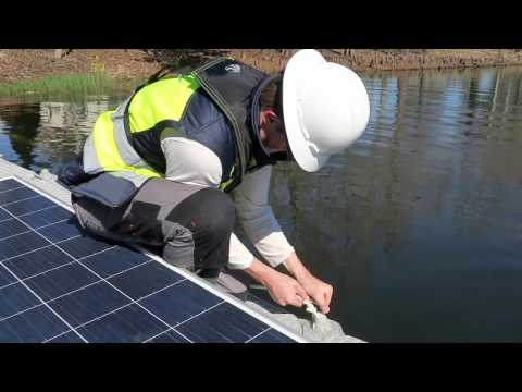 OUC installs floating solar panels to take advantage of water surface