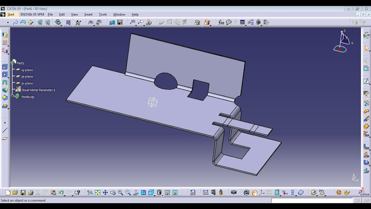 Catia Generative Sheetmetal Design Corner Relief Cut Out Youtube
