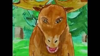Мультфильм   Лось и лягушка