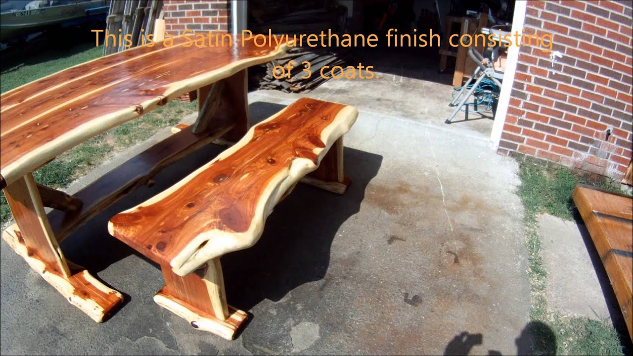 Red Cedar Log Dining Table   YouTube