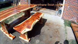 Red Cedar Log Dining Table