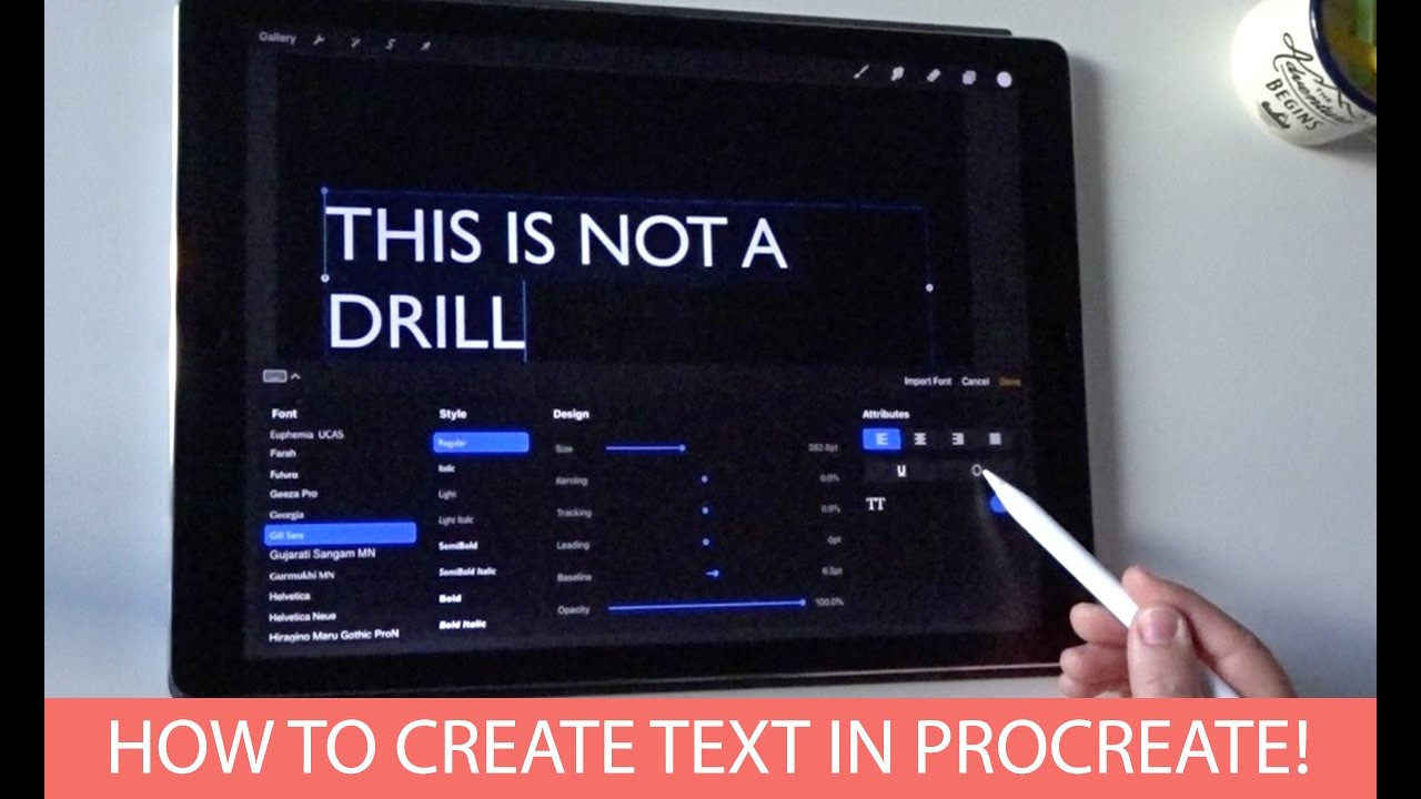 How to Create Text in Procreate! (Yes, Text  Type  With