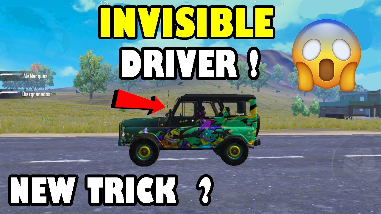 Pubg Mobile Invisible Car Driver New Trick ? No One Know About This Trick