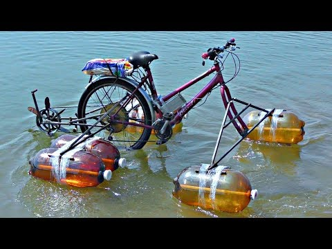 ✅ Езда Электро- Велосипеда по воде ⚓ Это возможно! АкваВел своими руками катамаран