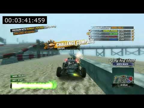 Burnout Paradise - Big Surf Island 10 Challenge Speed Run - 6:49