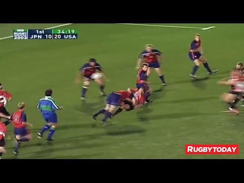 Huge Tackle! USA vs. Japan 2003 Rugby World Cup