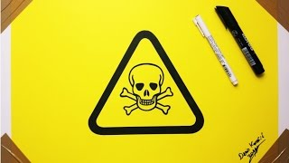 Toxic Symbol Drawing Skull -  Very Dangerous