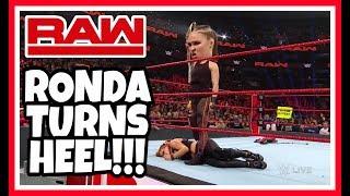 RONDA ROUSEY TURNS HEEL!!! WWE RAW REACTION 3/4/19