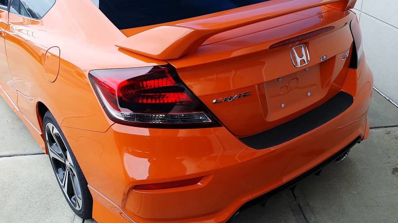 2015 Civic Si 2 And 4 Door Orange