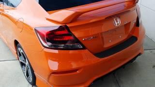 2015 Civic si 2 and 4 door orange