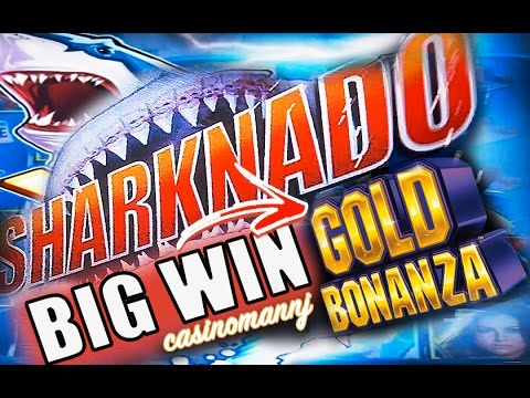 **BIG WIN!!** SHARKNADO AND GOLD BONANZA *MAX BET* SLOT WIN! - LIVE PLAY - Slot Machine Bonus - 동영상