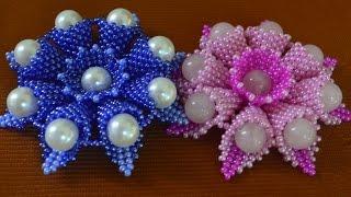 Цветы из бисера.  Бисероплетение.  Мастер класс / Flowers from beads. Beading(Если Вы желаете приобрести какое то из украшений МК которых предоставлено на этом канале приглашаю в Инста..., 2015-06-22T16:09:00.000Z)