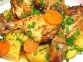 Картофель с курицей в рукаве запеченный в духовке