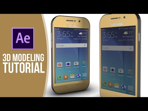 Tutorial | Element 3D Mobile Modeling – After Effects & Illustrator