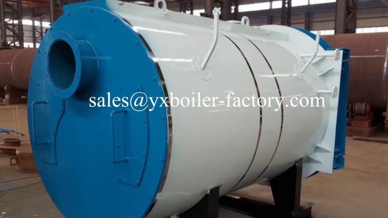 WNS oil gas fired steam boiler hot water boiler - YouTube