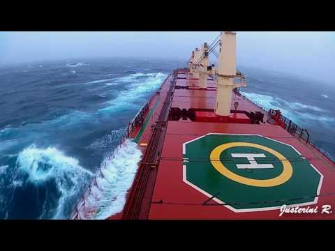 bad weather in North Pacific  Ocean  | MV Tokyo bulker
