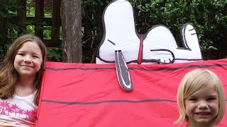 How To Build A Snoopy Dog House Play Tent!  Time For Toys