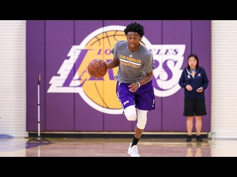 De'Aaron Fox Lakers Workout Highlights (MOCKS LONZO BALL!)