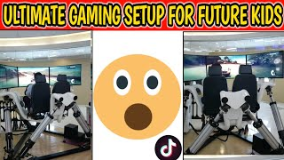 Biggest Ultimate Gaming Setup For Future Kids | 3D Screen | Robotic Chair Experience