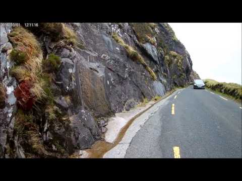 Driving through Ireland - Conor Pass  - Dingle Peninsula - County Kerry, Ireland