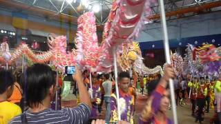 YICK NAM LION DANCE DRAGONS - LIKAS STADIUM (18JAN 2014)