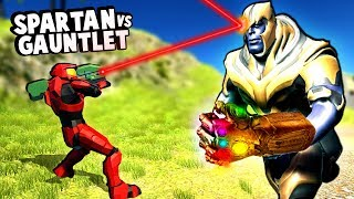 Halo Spartan Army Tries to Defeat Thanos and his Infinity Gauntlet in Ravenfield!