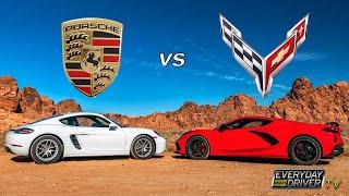 C8 Corvette vs Porsche Cayman - Best mid-engine? - Everyday Driver TV Season 8