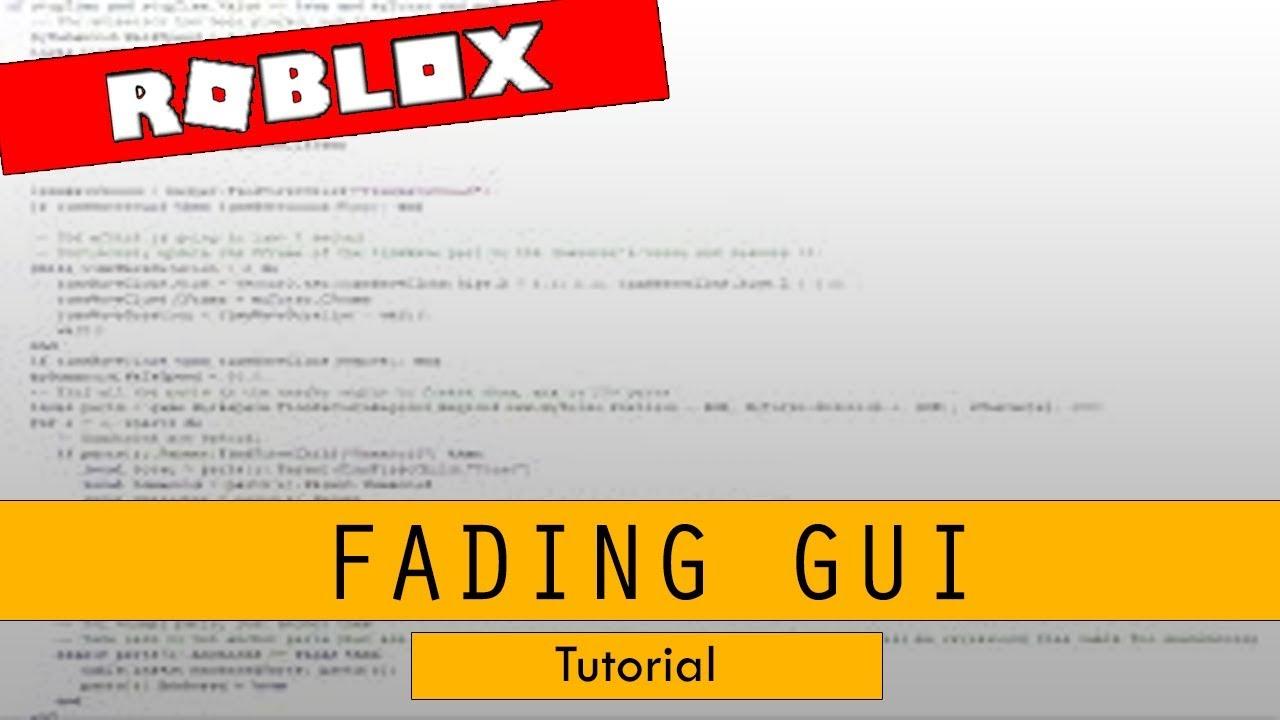 Roblox Studio - Fading Gui by GamersLeo
