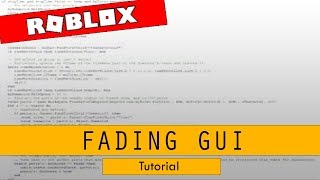 Roblox Studio - Fading Gui