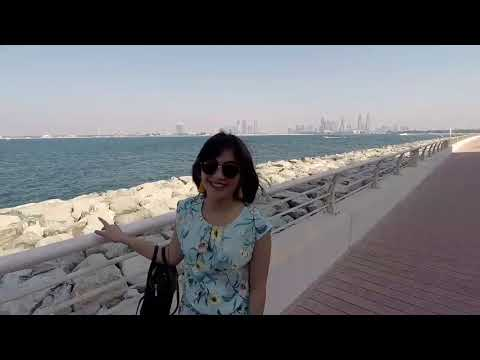 Dubai trip... her first time in dubai