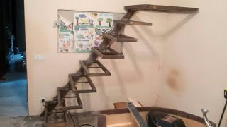 видео Консольная лестница: конструкция и как сделать монтаж
