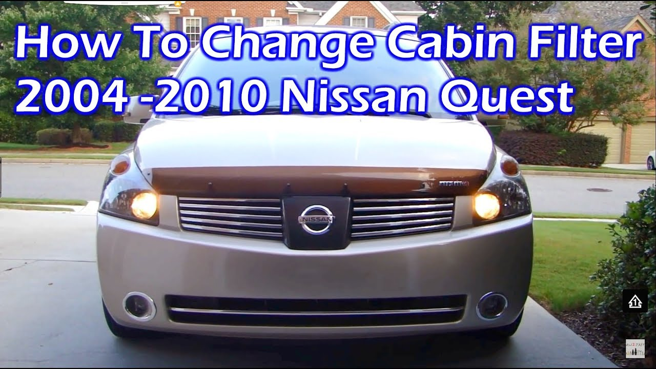 Nissan quest in cabin air filter replace 04 10 youtube for What size cabin air filter do i need