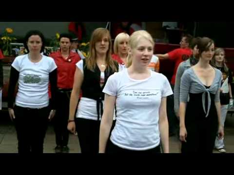 Michael Jackson World Cry Day Leipzig 2011 Drill / They don´t care about us Flashmob