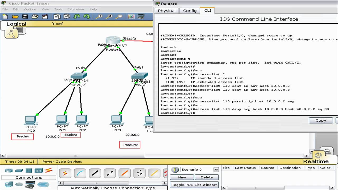 Cisco Access List Extended Part 2 Packet Tracer Tagalog Tutorial