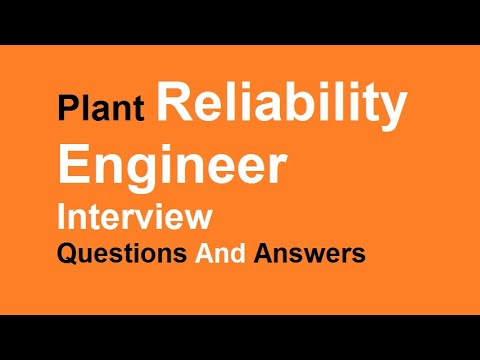 Fresh Plant Reliability Engineer Interview Questions And Answers