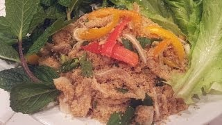 C/w Nana: Lao Sawdust Salad (ແໜມຂີ້ເລື່ອຍ == Nam Khii Leuay)