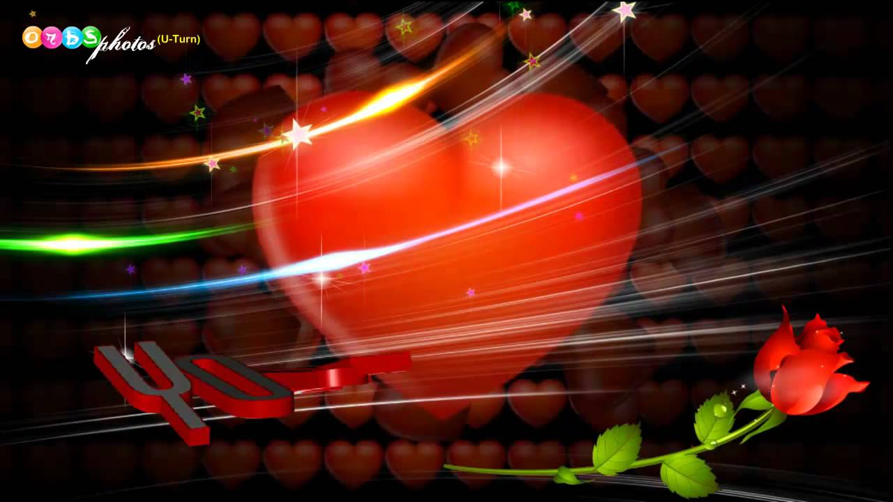 Animated Watch Wallpaper For Mobile Beautiful 3d Hearts Animation Love Greeting Hd Youtube