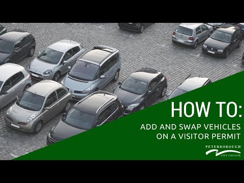 How Add And Swap Vehicles On A Visitor Permit