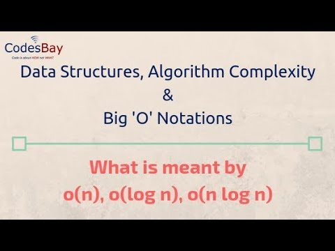 Data Structures, Big 'O' Notations and Algorithm Complexity