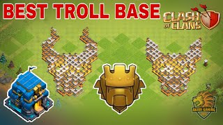 BASE TROLL TRẺ TRÂU LEO RANK TITAN CỰC CHẤT | Best Troll Base Clash of clans | Akari Gaming