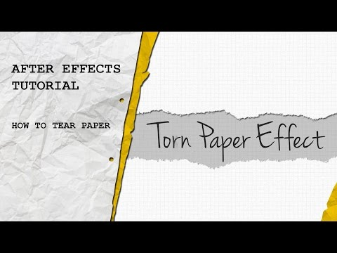 After Effects Tutorial: Torn Paper Effect