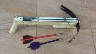 как сделать арбалет . .how to make a crossbow.