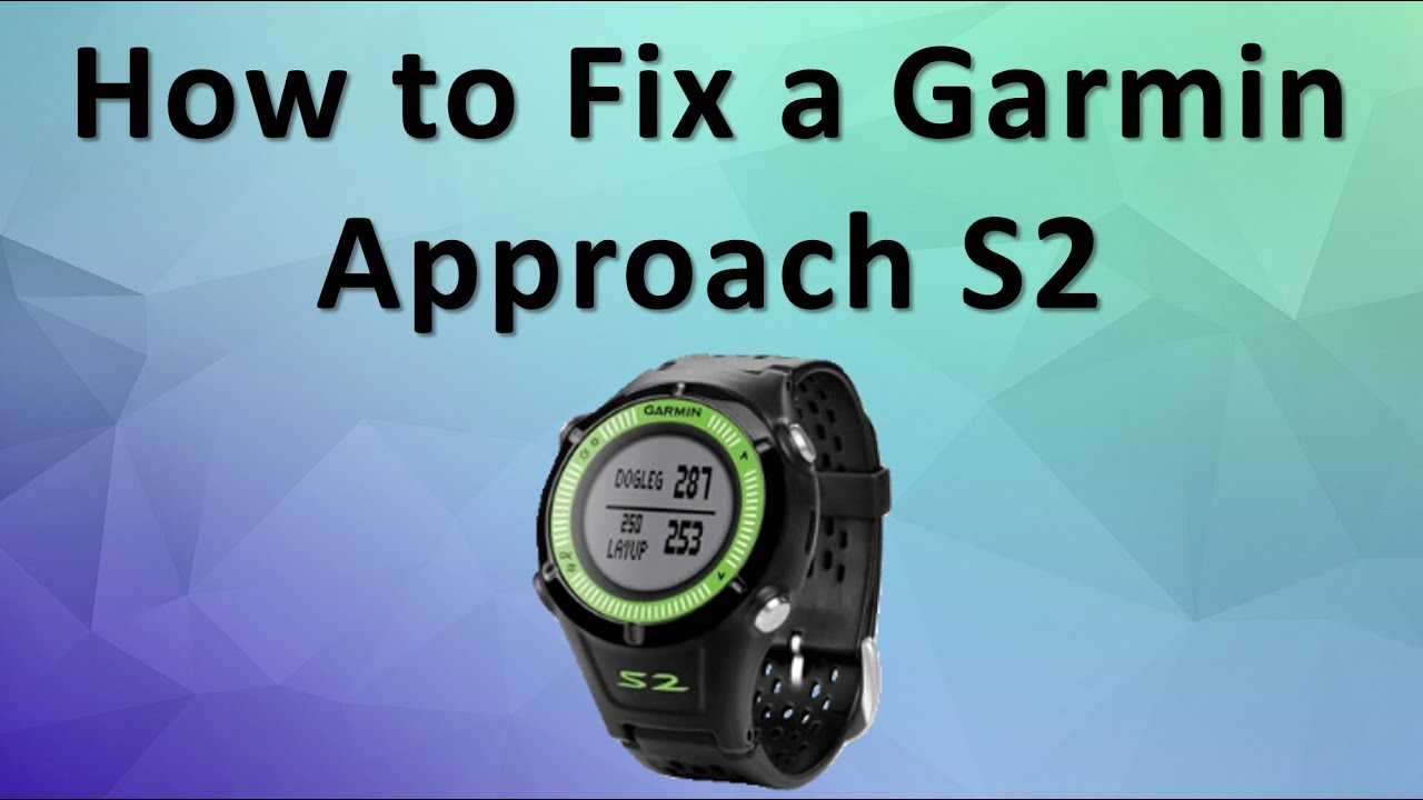 How to update courses on the Garmin Approach golf GPS watch