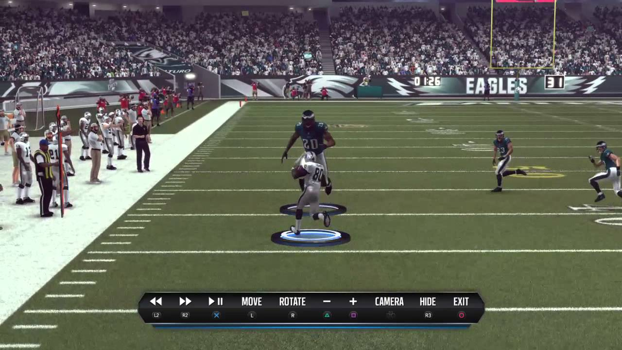 Madden NFL 16 Trucking Over 9 Foot Guy - YouTube