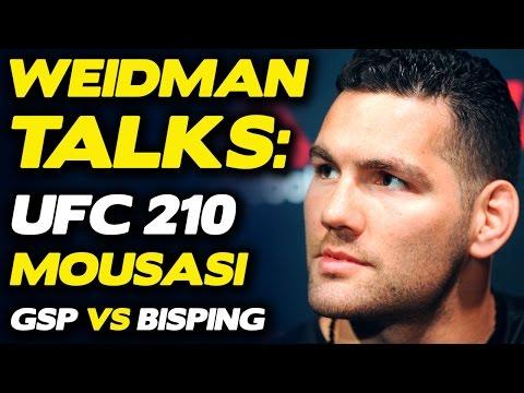 Chris Weidman Believes He'll BREAK Gegard Mousasi, talks GSP vs. Bisping | UFC 210