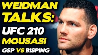 Chris Weidman Believes He'll BREAK Gegard Mousasi, talks GSP vs. Bisping | UFC 210