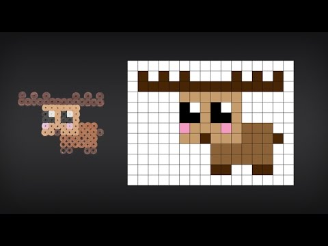 How to Make a Cute Perler Bead Moose YouTube Cool Cute Perler Bead Patterns