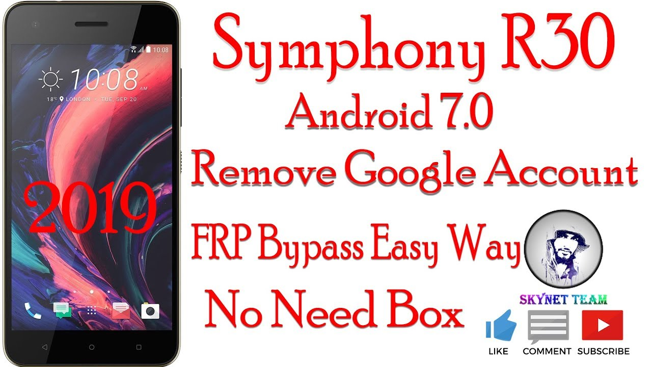 Symphony R30 Android 7 Remove Google Account  FRP Bypass Easy Way