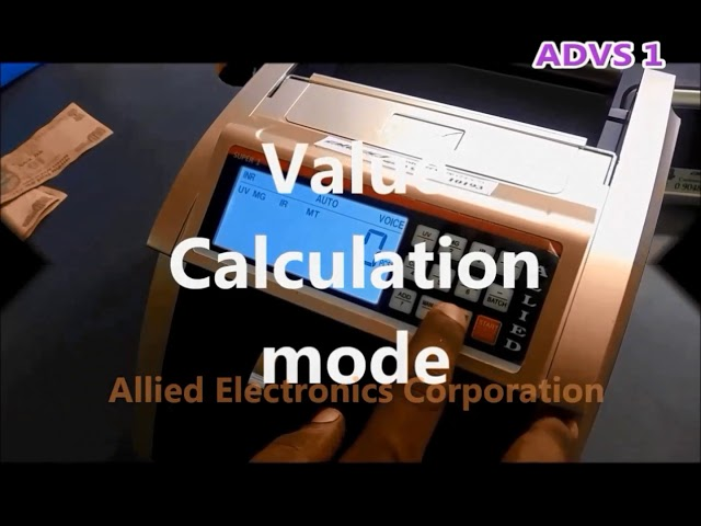 ADVS 1 - Allied currency counting machine