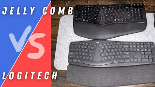 Logitech K860 vs Jelly Comb KE68   5 Round Keyboard Shootout